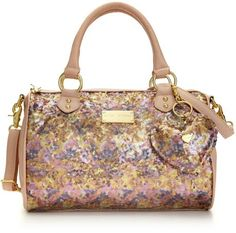 Betsy Johnson sequin satchel!