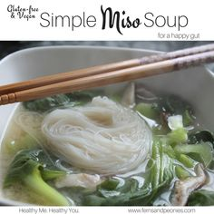 My gut has not been happy with me lately. I decided I needed something light and simple for it today so I came up with this Simple Miso Soup with baby bok choy and shiitake mushrooms, which takes less than 30 minutes to make. There are some amazing happy gut-health nutrients going on here and a extr