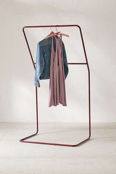 Slide View: 3: Leaning Clothing Rack