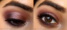 Plum-Rose Gold smokey eye by http://corallista.com/. The Coastal Scents Revealed 2 Palette was used to create this look.
