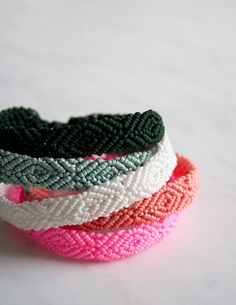 Monochrome Friendship Bracelets | Purl Soho