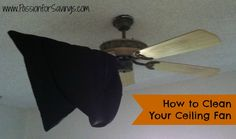 If you dread cleaning your ceiling fan, check out this tip that makes the job quick and easy! #cleaningtips