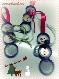 Φτιάξτε μόνοι σας χριστουγεννιάτικα στολίδια από καπάκια σε 5 λεπτά! - Anthomeli