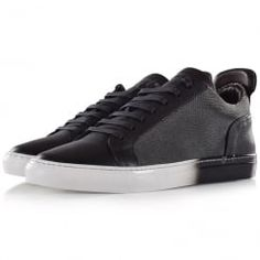 Ylati Footwear Amalfi Low Fade Away Black Triainers. Available now at www.brother2brother.co.uk
