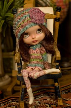 Sweet Escape. Knitted Sweater And Hat With A by SugarMountainArt