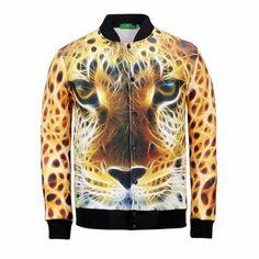 730e13c1e0cb cool 3D Leopard baseball jacket for teens Baseball Jacket Men