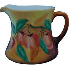 William Guerin & Co. (WG&Co.) Limoges Arts & Crafts Apple Motif Pitcher (c.1900-1932)