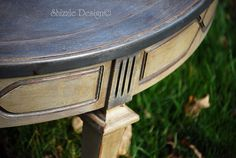 Round antique coffee table refinished in Annie Sloan Chalk Paint