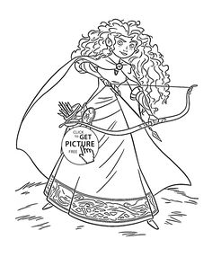 Brave Princess Merida Coloring Page For Kids Disney Pages Printables Free