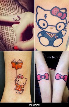 Many devotees have gotten body art inspired by Hello Kitty, and we've rounded up some of our favorites . . .