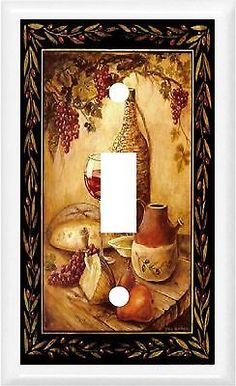 TUSCAN WINE U0026 FRUIT KITCHEN DECOR SWITCH OR OUTLET COVER V588
