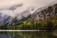 """Mists of Silver Lake"": June Lake CA #reallyrightstuff @reallyrightstuff   Not so long ago I stood on the shore of Silver Lake in the eastern Sierra Nevada Mountains. Took a week got away from the hum of computers emails and the madding crowd. Went to nature. Got up at 5am and beat the sun to the day. More than once. Hoped for golds pinks purples and brilliance but got mist.  Magic flirtatious drifting and seductive. Had breakfast at the oldest trout fishing retreat in the Eastern Sierras…"