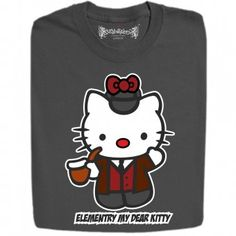 Sherlock Kitty Funny Design T Shirts And Hoodies