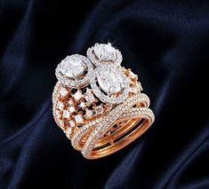 """187 Likes, 22 Comments - SilverJewelleryCouture (@silverjewellerycouture) on Instagram: """"On the Sangeet night, statement ring that will radiate sparkling joy for the bride. DM/contact us…"""""""