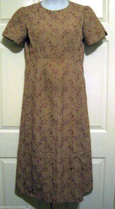 "Amish Mennonite Modest Handmade Cape Dress Bust 40"" Waist 34"" Spring Summer Work"