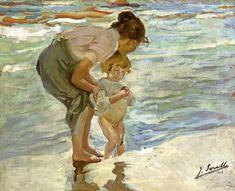 """Mother and Child on the Beach,"" Joaquin Sorolla y Bastida"