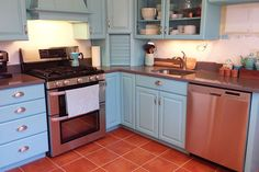 terracotta kitchen remodel, countertops, flooring, home improvement, kitchen design, painting