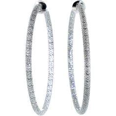 Mattia Cielo Rugiada Micro Pave Diamond Hoop (€15.175) ❤ liked on Polyvore featuring jewelry, earrings, white gold jewelry, pave diamond hoop earrings, 18k earrings, 18 karat gold earrings and 18k white gold earrings