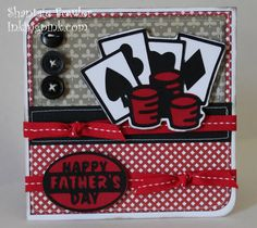 Fathers Day.  Would use for thank you cards for poker tournament  Super cute card for fathers day.  Could easily be transformed into a casino night invitation.