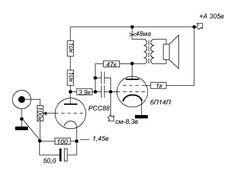 Dave Schmarder's 2 tube audio amplifier schematic