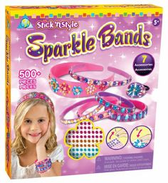 Amazon.com: The Orb Factory Stick'n Style Sparkle Bands: Toys & Games