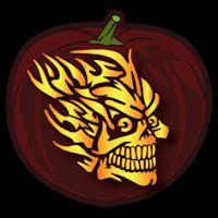 Flaming Skull 03 CO Pumpkin Eyes, Pumpkin Carving, Skull, Art, Art Background, Kunst, Pumpkin Carvings, Performing Arts, Skulls