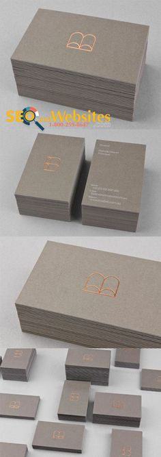 Simple Business cards with Gold Foil