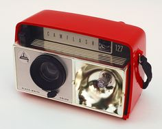 Tower Camflash 127.  The Camflash 127 is a plastic camera that makes 4x4cm exposures on 127 film. Made for Sears c1960.