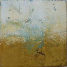 'A Moment in Time' / plaster, oil, cold wax on cradled wood -by Dayna Collins