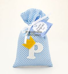 "Lavander sachets for boys. P means baby name "" POYRAZ"""