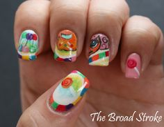 Candyland themed nails.  Maybe something a little less busy for my costume...