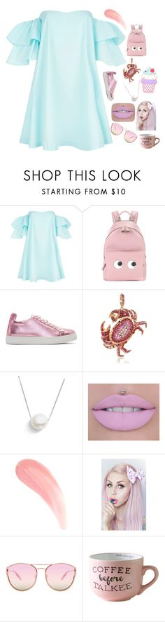 """Back to Childhood Pastel"" by sofiagarcia-27 ❤ liked on Polyvore featuring Claudie Pierlot, Anya Hindmarch, Sophia Webster, Annoushka, Chan Luu, Lulu in the Sky and Quay"