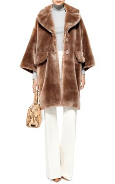 Sara Oversized Faux-Fur Coat by Vivetta - Moda Operandi