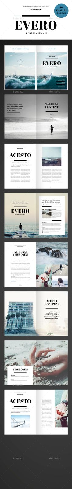 Amazing Minimal Magazine - InDesign Template #design Download: http://graphicriver.net/item/amazing-minimal-magazine-indesign-template-/11957652?ref=ksioks