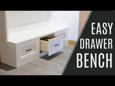 Mudroom Bench with Easy Drawers | Ana White