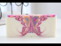 Soapmaking: Diagonal sliced, Striped Soap with Swirls - YouTube