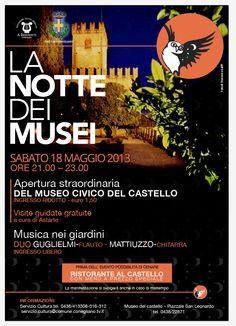 Apertura straordinaria del Museo civico del castello di Conegliano #ndm13 #nottedeimusei