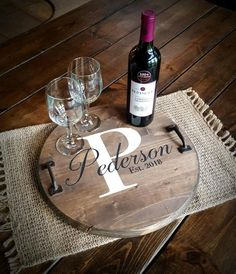 "Aug 16, 2020 - These beautiful wooden trays with handles are personalized for the perfect gift! We customize! Want a different wording? No problem! Let us know in the notes to seller! The trays are 15"" . Handles included. Diy Wood Projects, Vinyl Projects, Wood Crafts, Vinyl Crafts, Cricut Craft Room, Cricut Creations, Diy Signs, Style At Home, Notes"