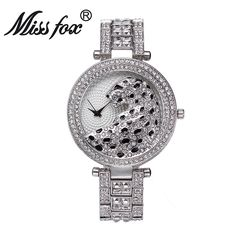 28.63$  Watch here - http://ali6ku.shopchina.info/1/go.php?t=32817958196 - Miss Fox Fashion Women Watch Bling Crystal Diamond Leopard Luxury Watches Rhinestones Ladies Quartz Watch Female Gold Watch  #shopstyle