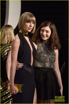 Lorde Meets Up with Taylor Swift at Oscars 2016 Vanity Fair Party
