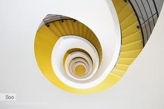 yellow strairs - Pinned by Mak Khalaf City and Architecture architecturecityfrancegraphicslyonstaircasestairs by rregisphotos
