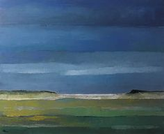Niels Schouten    'De Slufter'  acryl op linnen,  100 x 110cm