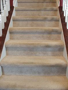 I've been wanting to take the carpet up from my stairs, so I was so excited when I saw this. Thanks to this brave women for doing this and posting. I cant wait to do this myself. Now I just have to gently break the news to my husband. :)