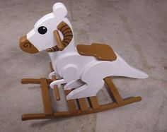 Post with 194 votes and 4775 views. Rocking Horse Tauntaun - with Plans! Woodworking Toys, Woodworking Projects Diy, Diy Wood Projects, Wood Crafts, Woodworking Classes, Star Wars Baby, Star Wars Kindergarten, Rocking Horse Plans, Rocking Horses