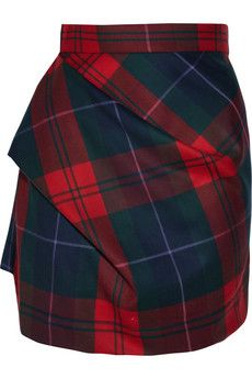 "Vivienne Westwood tartan mini for winter? Yes please. It reminds me of ""the one that got away"" - a tartan mini skirt in a Tokyo op shop."