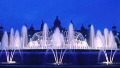 Magic Montjuic Fountains, -