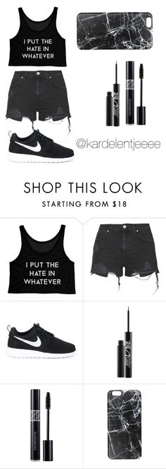 """#30"" by kardelentjeeee ❤ liked on Polyvore featuring Topshop, NIKE, Urban Decay, Christian Dior and Casetify"