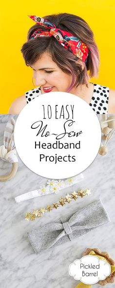 10 EASY No-Sew Headband Projects| Sewing Projects, Sewing Projects for Beginners, Sewing for Beginners, No Sew Projects, Sewing, Sewing Patterns #SewingProjects #SewingProjectsforBeginners #NoSewProjects #Sewing
