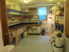 Emily Murphy pottery: studio glazing area