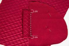 Eine klassische, aufgesetzte Leistentasche in eine Jacke nähen - Schritt für Schritt erklärt mit Fotoanleitung + Gratis Ebook und Taschen-Schnittteil